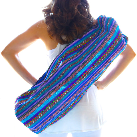 Yoga Bag - 1-Zip Style - Handwoven in Stripes