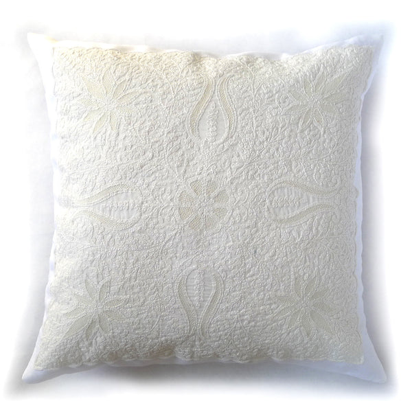 hand embroidery from india on a pillow