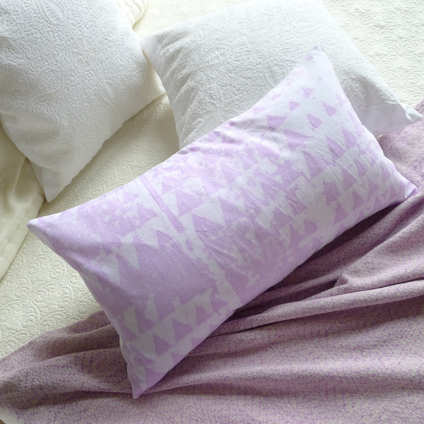 ethically sourced lavender throw pillow for your interior design project