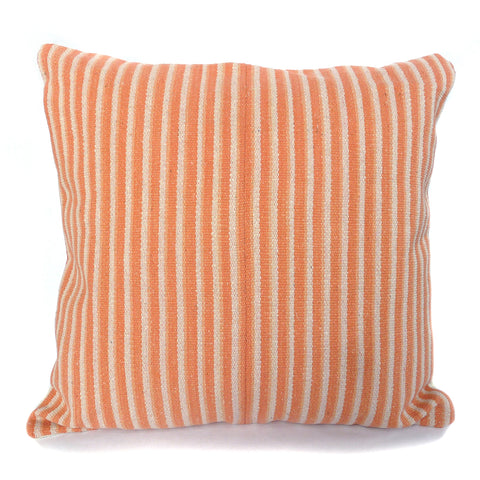 Nomad Pillow - Handwoven in Sunset Stripe
