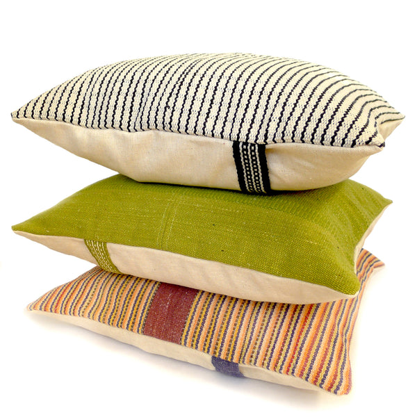 Handwoven Pillow - Green