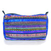 hand appliquéd clutch in blue