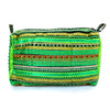 hand appliquéd clutch in green