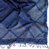 Hand Dyed Starry Night Scarf - Diamonds