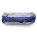 Yoga Bag - 2 Zip Style - Handwoven in White & Blue