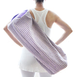 Yoga Bag - 2 Zip Style - Handwoven in White & Purple