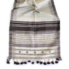 Black & White Scarf - Handwoven Cotton