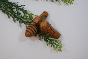 Olivewood Glory - Bottle Stopper - Nasselquist Jewellers