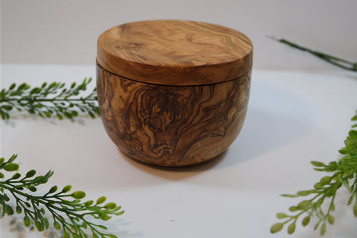 Olivewood Glory - Salt Cellar - Nasselquist Jewellers