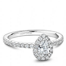 Noam Carver - Pear Shaped Halo Engagement Ring (BAND SOLD SEPARATELY) - Nasselquist Jewellers