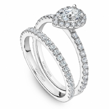 Load image into Gallery viewer, Noam Carver - Pear Shaped Halo Engagement Ring (BAND SOLD SEPARATELY) - Nasselquist Jewellers