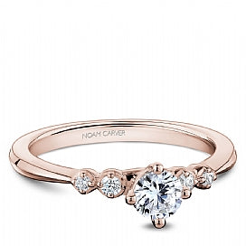 Noam Carver - Round Engagement Ring Rose Gold (BAND SOLD SEPARATELY) - Nasselquist Jewellers
