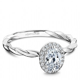 Noam Carver - Oval Halo Twist Engagement Ring (BAND SOLD SEPARATELY) - Nasselquist Jewellers