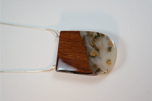 Wild Blue Yonder - Wood & Resin Pendent - Nasselquist Jewellers