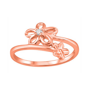 Rose Gold Ring with Flower