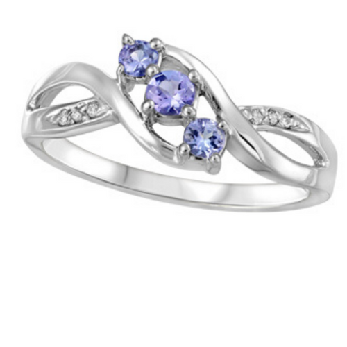 Amethyst & Diamond White Gold Ring - Nasselquist Jewellers