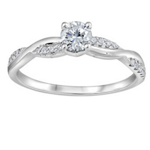 Braided Band Engagement Ring - Nasselquist Jewellers