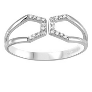 Open Front White Gold Diamond Ring - Nasselquist Jewellers