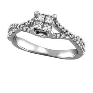 Quad Diamond Engagement Ring - Nasselquist Jewellers