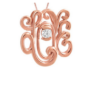 Rose Gold Love Pendant with Canadian Diamond - Nasselquist Jewellers