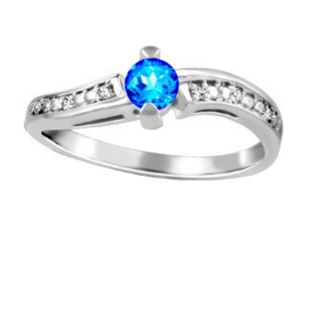 Sapphire Gemstone Ring with Diamonds - Nasselquist Jewellers
