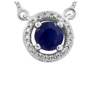 Sapphire Pendant with Diamonds - Nasselquist Jewellers