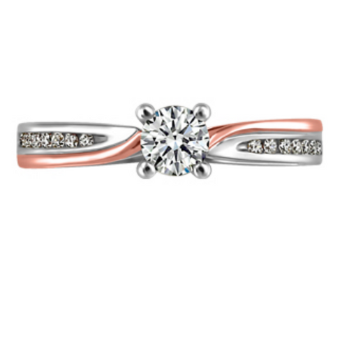 Canadian Diamond Engagement Ring Rose & White Gold - Nasselquist Jewellers