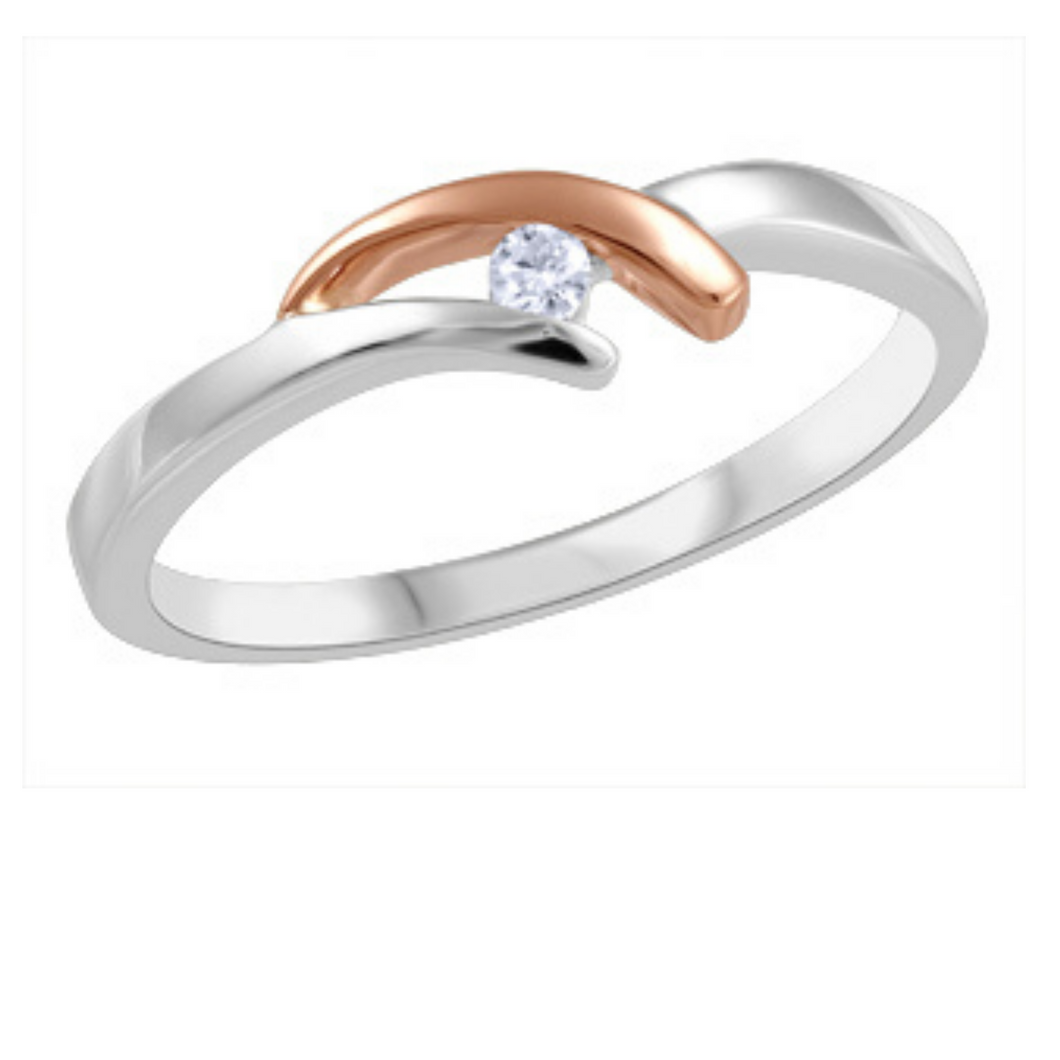 Canadian Diamond Ring in White & Rose Gold - Nasselquist Jewellers