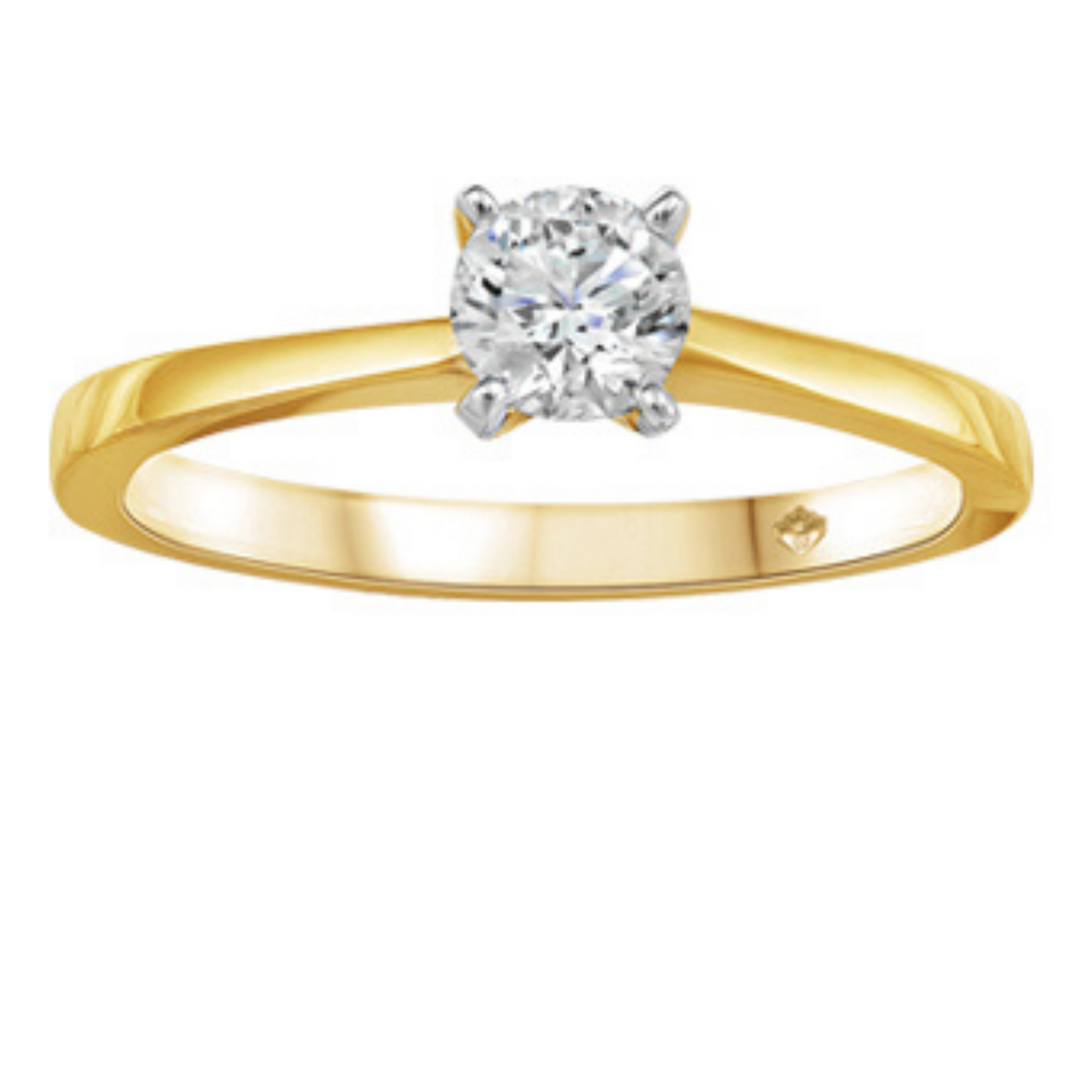 Yellow Gold Solitaire Canadian Diamond Engagement Ring - Nasselquist Jewellers