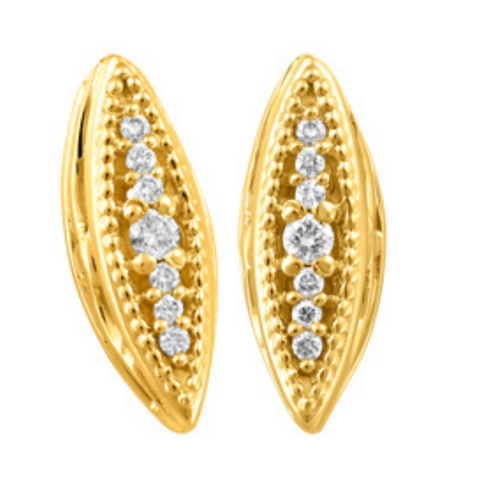 Canadian Diamond & Yellow Gold Earrings - Nasselquist Jewellers
