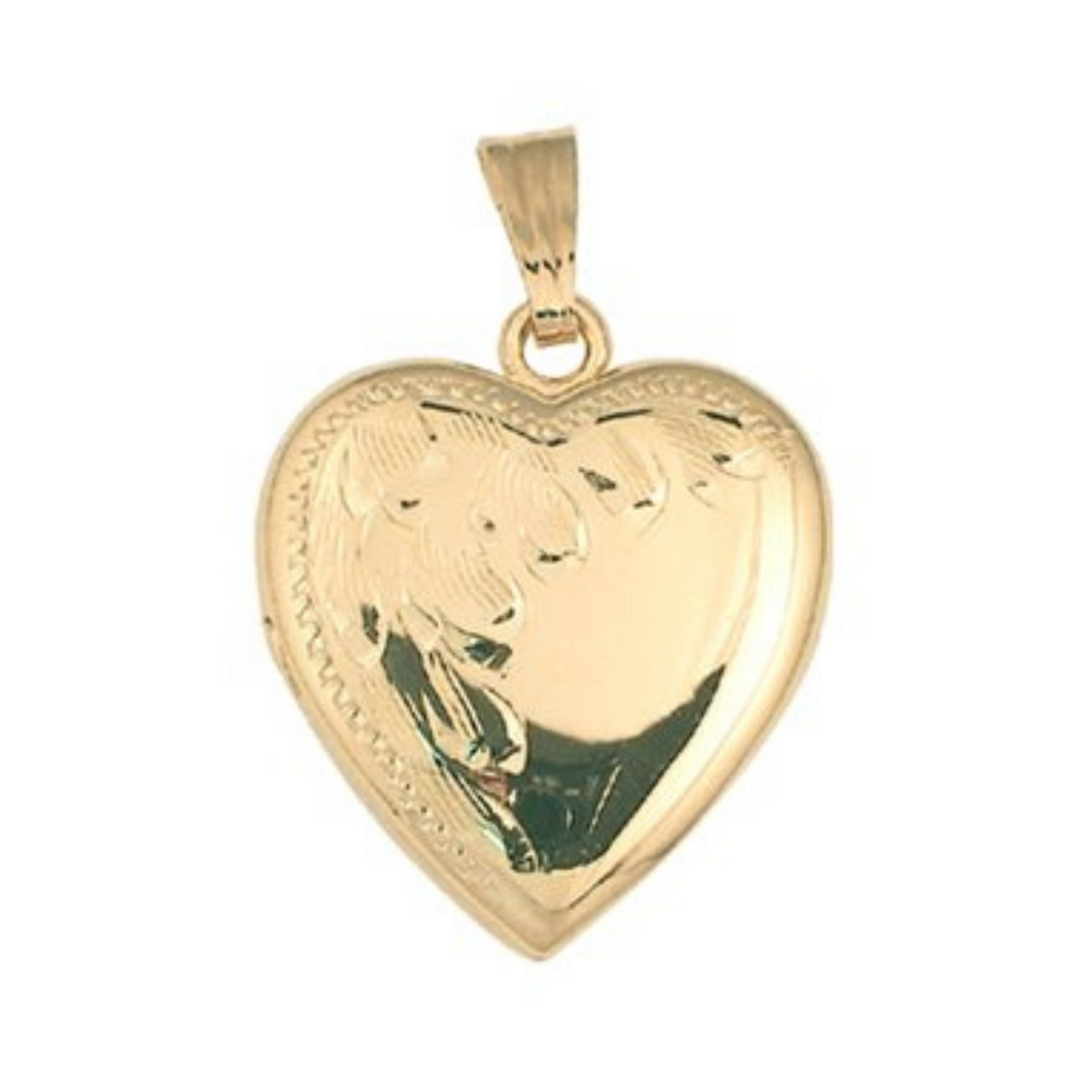 Heart Shaped Locket Gold - Nasselquist Jewellers