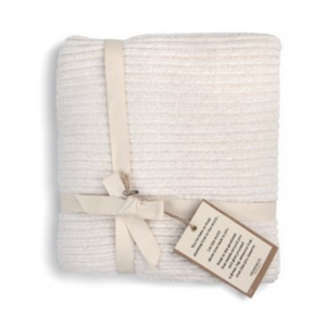 Comfort Collection - Chenille Throw in Cream