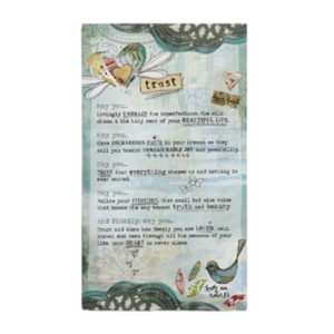 Kelly Rae Roberts Collection - Trust Manifesto Plaque