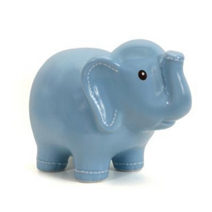 Children's - Large Elephant Piggy Bank in Blue
