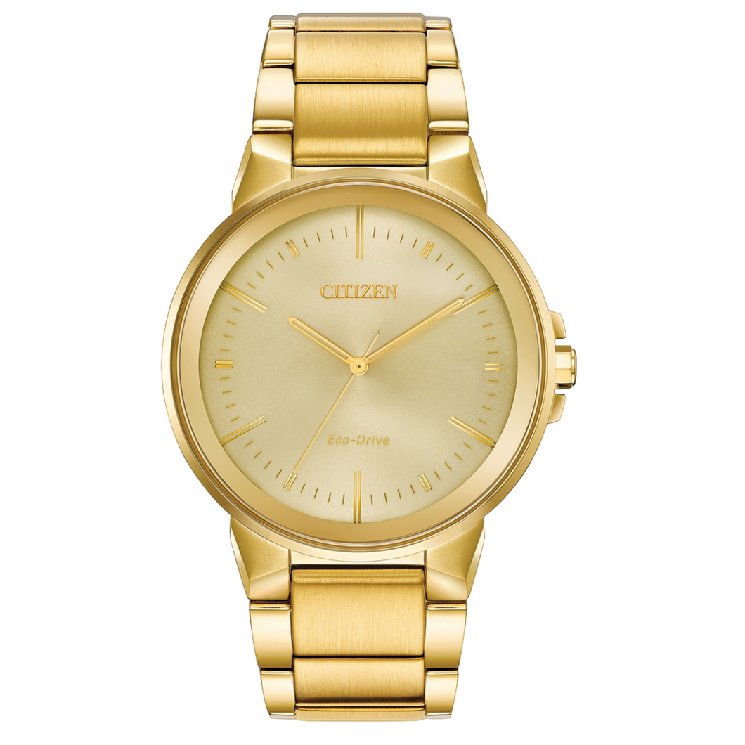 Citizen Eco Drive AXIOM All Gold Mens Watch