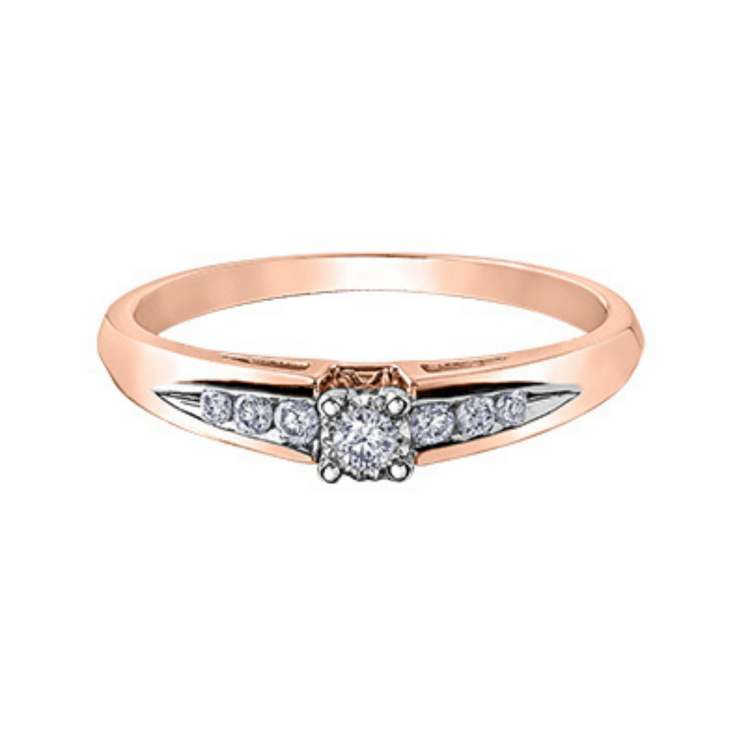 Illuminaire Rose Gold Diamond Ring