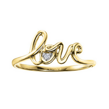 Load image into Gallery viewer, Love Ring (available in white and yellow gold)