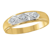 Load image into Gallery viewer, Mens Yellow Gold Band with Diamonds