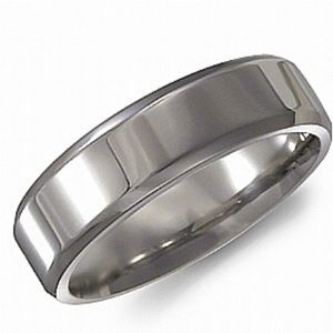 Titanium Band Mens 6mm - Nasselquist Jewellers