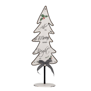 "Holiday - Metal Christmas Tree ""All is Merry & Bright"""