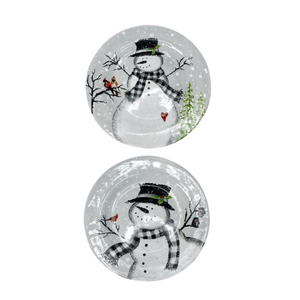 Holiday - Round Plate with Snowman