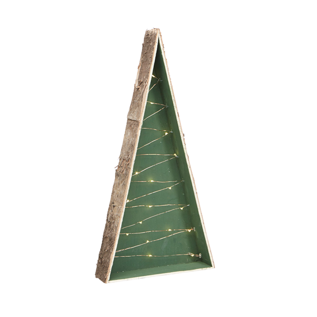 Holiday - Birch Tree Standing LED Light in Green (Small)