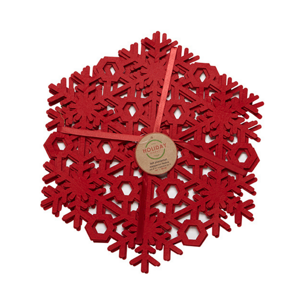 Holiday - Red Snowflake Placemats