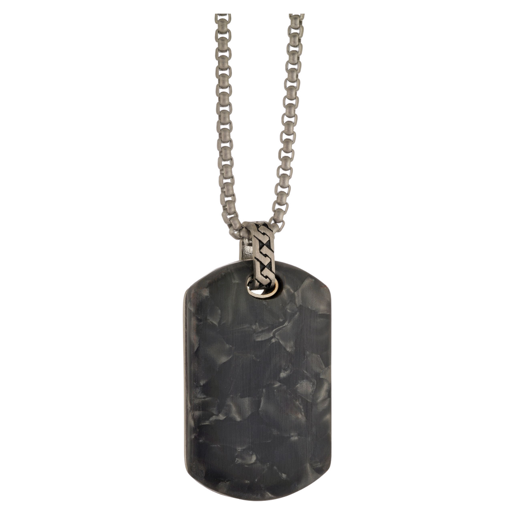 ITALGEM - Stainless Steel Special Stone Dog Tag