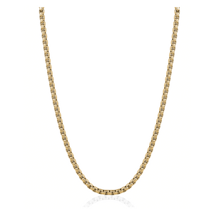 ITALGEM - Gold Plated Steel Round Box Chain