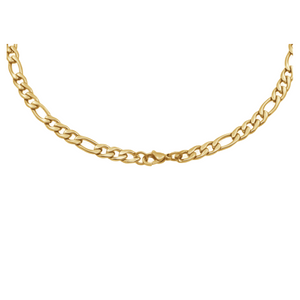 ITALGEM - Gold Plated Figaro Steel Chain