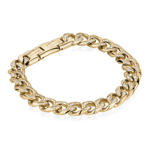 ITALGEM - Gold Plated Steel Bracelet with Cubic
