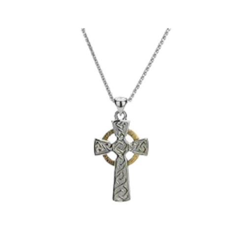 Keith Jack - Celtic Cross Silver & 10K Gold - Nasselquist Jewellers