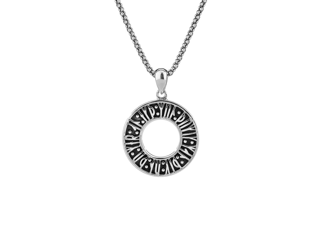 Keith Jack - Runes Silver Pendant and Chain - Nasselquist Jewellers