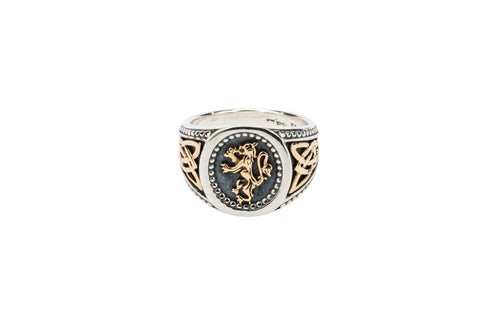 Keith Jack - Scottish Lion Rampant Ring Gents - Nasselquist Jewellers
